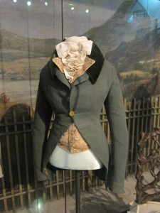 And something for the gentlemen: a stunning riding coat and waistcoat (c. 1790).